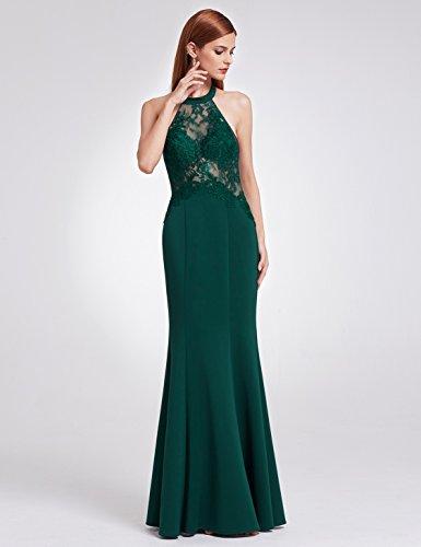 Elegante mujeres07189 Oscuro de Las Largo Verde Ever Noche Encaje Verde Vestidos de Oscuro C Pretty de q0wzAY