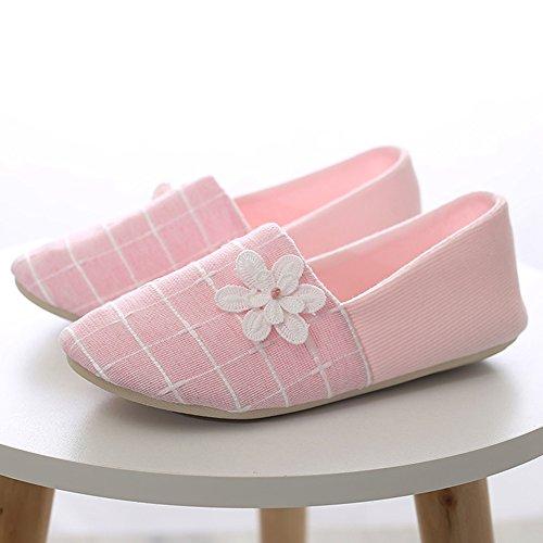 Verano Sandalias Zapatos de mes Paquete de verano Sección delgada de tacón Zapatillas de maternidad posparto Interior blando Interior antideslizante Pantuflas de primavera de postparto Tela de algodón