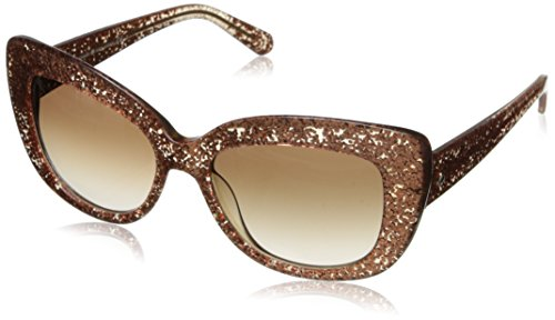 Kate Spade Women's Ursula Cateye Sunglasses, Rose Gold Glitter, 55 (Glitter Womens Sunglasses)