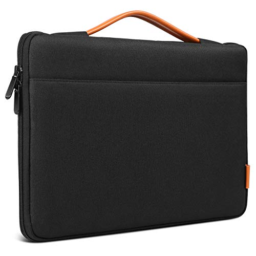 Laptop Sleeve Protective Bag Ultrabook Netbook Carrying Case Compatible 14 ThinkPad, 15'' MacBook Pro 2016-2018, Dell Inspiron, HP Chromebook 14, ASUS and More, Black ()