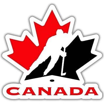 ddc00420c68 Amazon.com  Canada Hockey Team Vynil Car Sticker Decal - Select Size   Automotive