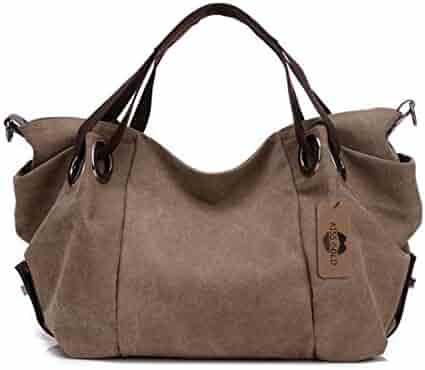 23c5c943fcce7 KISS GOLD(TM) Women s Canvas Hobo Top-handle Bag Crossbody Shoulder Bag