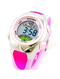 OYang Fashion 30M Waterproof Children Kids Boys Girls Digital Sport Watch with Alarm Chronograph Date Pink Color