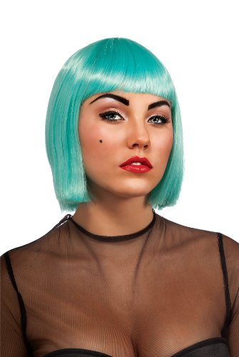 Lady Gaga Adult Wig, Turquoise, (Mens Lady Gaga Costumes)