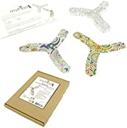 MYFIBO TicToys Boomerang for Beginners, Girls and Boys - Design and Style Yourself, Perfect for Indoor and Out