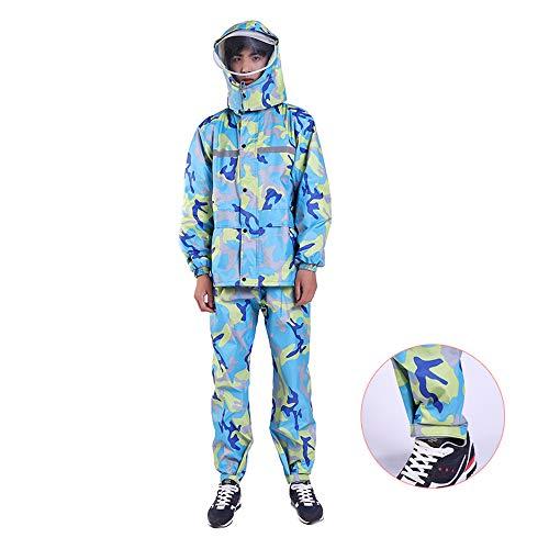 Conch Size Adulti Impermeabili Xxxxxl Uomo E Geyao Con color Green All'aperto Poncho Trekking Donna Lungo Per Blue Impermeabile tgqZBw