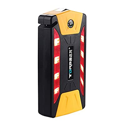 HITSAN 10400mAh 4USB Multi-Function 12V Car Jump Starter Power Bank Rechargeable Battery One Piece