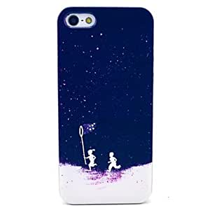 Catching Firefly Children Pattern Hard Cover Case for iPhone 5/5S