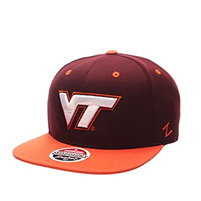 Zephyr NCAA Virginia Tech Hokies Men's Z11 Snapback Hat, Adjustable Size, Team Color from Zephyr Graf-X