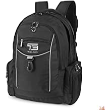 "Laptop Backpack Waterproof Computer Backpacks Bag for Men College School Travel and Work Fit Laptops Up to 16"" (Black)"