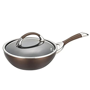 Circulon Symmetry Chocolate Hard Anodized Nonstick 9-1/2-Inch Covered Stir Fry