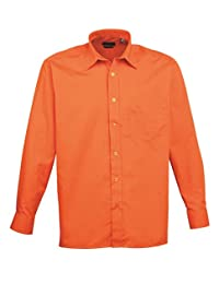 Premier Men's Formal Poplin Long Sleeve Shirt