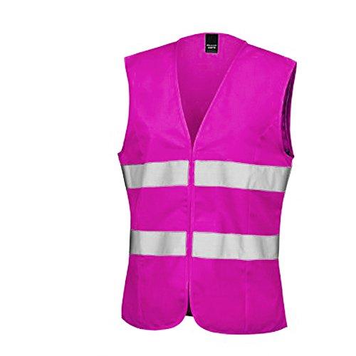 Result Core Womens/Ladies Sleeveless Hi Vis Vest (10 US) (Fluorescent Pink)