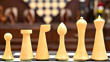 Amazon.com: Minimalist Hermann Ohme Chess Set in Dyed Boxwood & Box ...