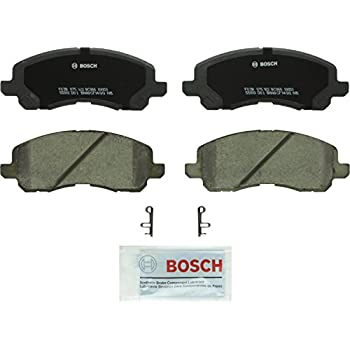 REAR Jeep Bosch BE868H Blue Disc Brake Pad Set with Hardware for Select Chrysler Dodge and Mitsubishi Cars and SUVs