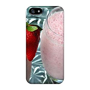 Iphone5 iphone 5s iphone 5 Plastic mobile phone case Scratch-proof Protection Cases Covers covers protection Yummy Strawberry Smoothies