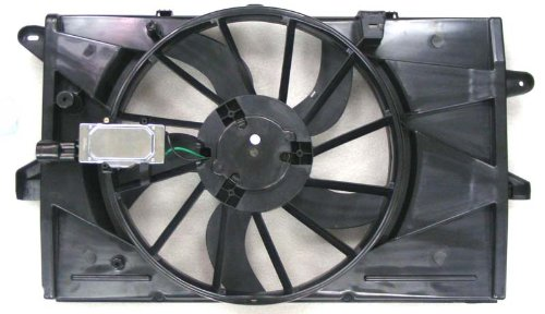 Dual Radiator and Condenser Fan Assembly - Cooling Direct For/Fit FO3115174 09-12 Lincoln MKS 08-09 Mercury Sable/Ford Taurus X 08-12 Taurus ()