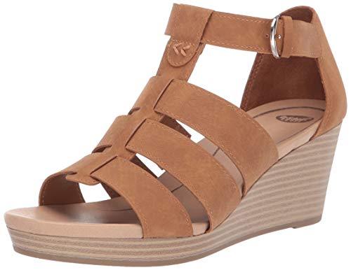 - Dr. Scholl's Women's Esque Wedge Sandal Soft Saddle Snake Print 8.5 M US