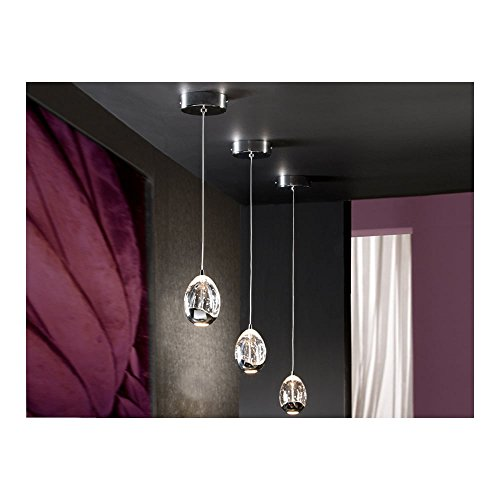 Schuller Spain 784326I4L Modern Chrome Egg Ceiling Pendant 1 Light Dining Room, Living Room LED | ideas4lighting by Schuller