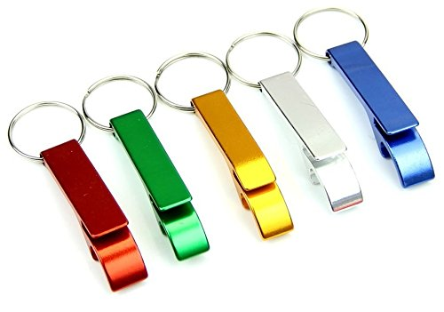 Set of 5 - ChefLand Key Chain Beer Bottle Opener / Pocket Small Bar Claw Beverage Keychain Ring