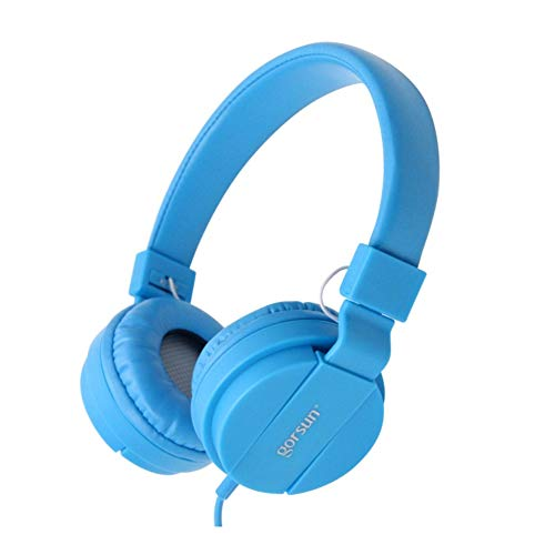 xxiaoTHAWxe Fashion Deep Bass Headphone 3.5mm Wired Foldable Portable Gaming Music Headset Blue from THAWxe