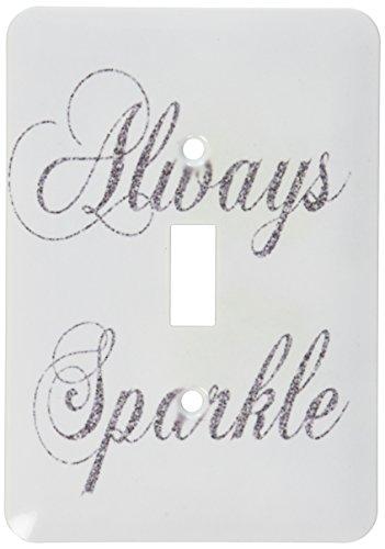 3dRose lsp 186760 1 Silver Glitter Sparkle