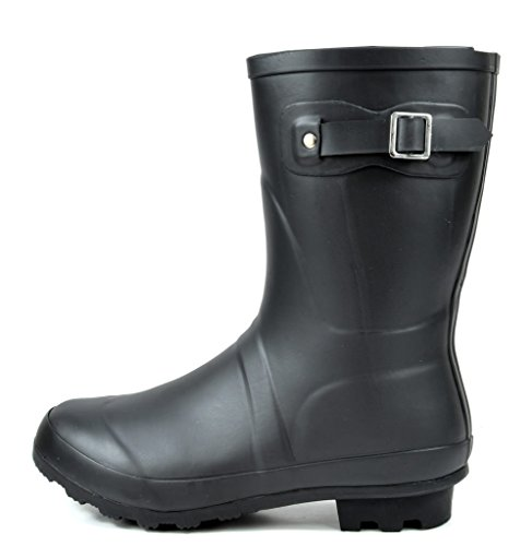 Mid Calf ARCTIV8 Boots Snow Rain ORIGIN SHORT Black Women's Pull Waterproof On Winter Rubber YnqgXqx7aw
