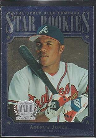 Amazoncom 1997 Upper Deck Andruw Jones Braves Star Rookie Baseball