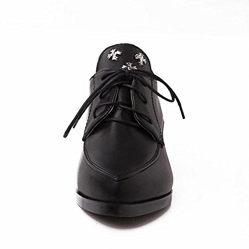 Piede Di Fascino Vintage Donna Mid Heel Oxford Scarpe Brogue Nere