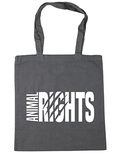 x38cm litres Animal Beach 10 Shopping 42cm HippoWarehouse Rights Grey Gym Tote Graphite Bag awqq8ASH