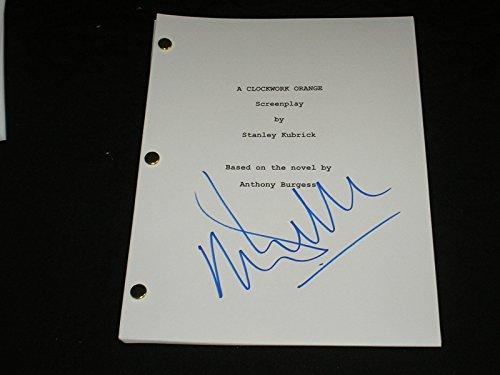 Mcdowell Autograph - MALCOLM McDOWELL Signed A Clockwork Orange SCRIPT Autograph