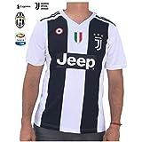 Juventus Ronaldo No.#7 Soccer Jersey 2018 2019 Serie A Calcio d'Italia - New Black and White Home Soccer Jersey 2019 (Original, Medium)