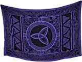 Raven Blackwood Imports Bedspread Tapestry Triquetra Tripe Goddess Power Purple Black Large 72'' x 108''