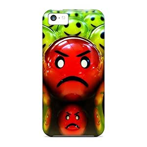 Durable Defender Case For Iphone 5c Tpu Cover(meanie Face)