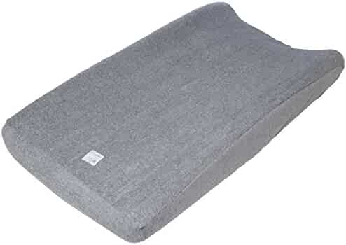 """Burt's Bees Baby - Knit Terry Changing Pad Cover, 100% Organic for Standard 16"""" x 32"""" Changing Pad (Heather Grey)"""