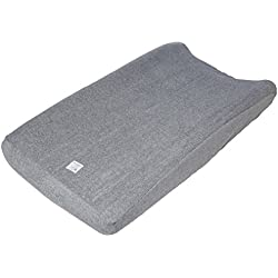 "Burt's Bees Baby - Changing Pad Cover, Super Absorbent Knit Terry, 100% Organic Cotton for Standard 16"" x 32"" Changing Pads (Heather Grey)"