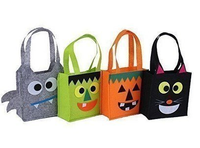 Comsic Halloween Party& Holiday Trick-or-Treat Tote Bag/ Halloween Candy Totes Bag/ Costume Accessory Totes Bag, Pack in (Candy Costumes For Halloween)