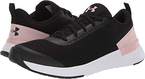 - Under Armour Women's Aura Trainer Sneaker, Black (001)/Flushed Pink, 10 M US