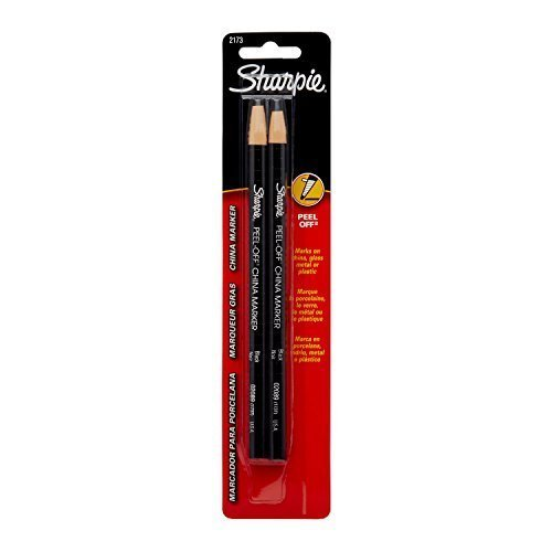 Sharpie Peel-Off China Markers, Black Markers (2173PP) (4-Pack of 2)