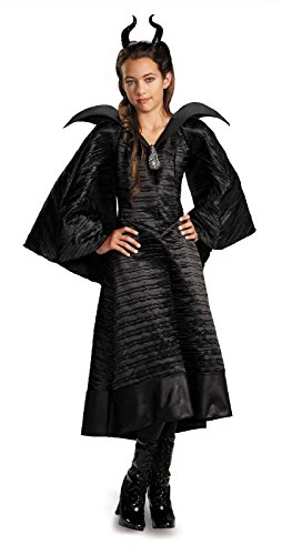 [Maleficent Christening Black Gown Deluxe Child Costume - Medium] (Maleficent Deluxe Gown Child Costumes)