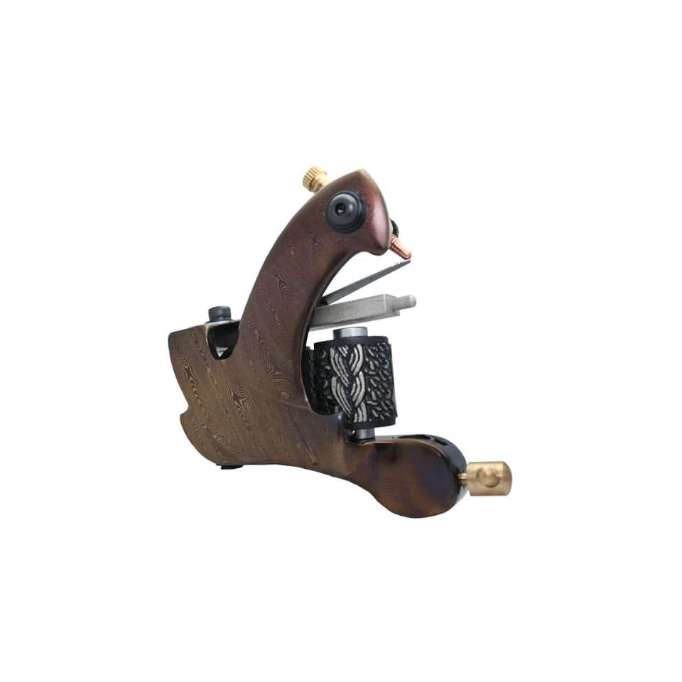 Damascus Steel Handmade Tattoo Machine Liner Gun e010723