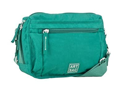d1d87b79b Turquoise Green Small Nylon Cross Body Travel Bag Handbag by Art Sac ...