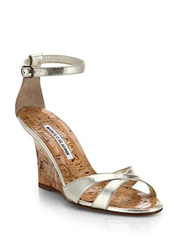 manolo-blahnik-womens-metallic-leather-wedge-sandals-metallic-gold-size-9us-39eur