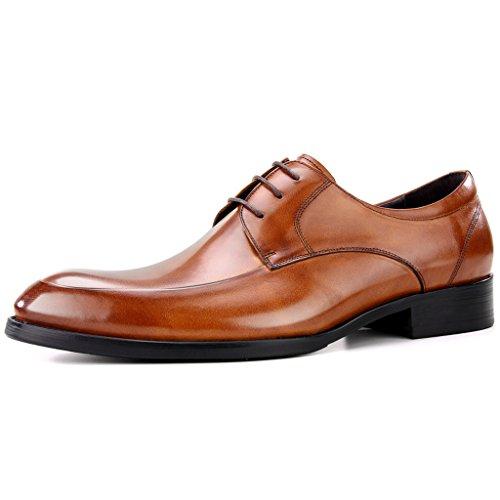 Zapatos Clásicos de Piel para Hombre Zapatos de cuero para hombres Ropa formal de negocios Ocio Zapatos de marea británicos retro acentuados ( Color : Marrón , Tamaño : EU45/UK9 ) Marrón