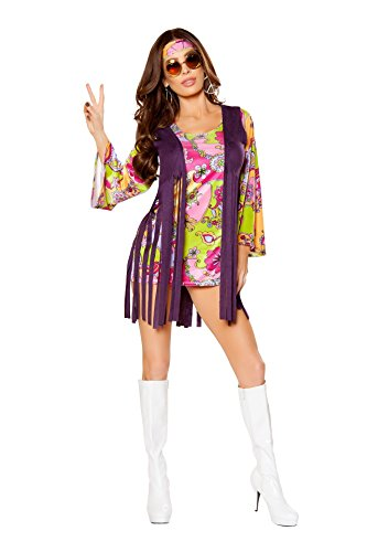 Groovy Hippie Costume - Large - Dress Size