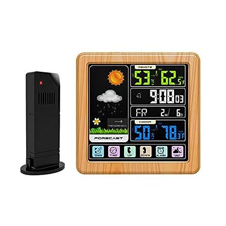 WMC Digital Despertador de la estación meteorológica inalámbrica ...
