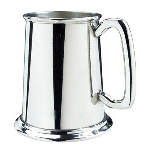 Nice Pewter Glass Bottom 16oz Tankard Beverage (Pewter Tankards Steins)