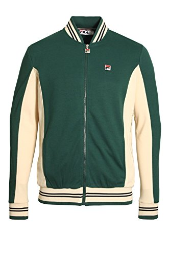 Heavy Track Jacket - Fila Mens Settanta LM161RN1 Track Jacket in Poly June Bug Green Small
