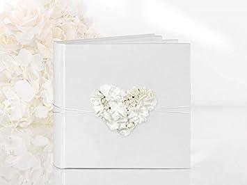 Amazon De Gastebuch Hochzeit Hochzeitsgastebuch Mit Blumenherz