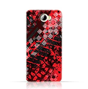 Huawei Y5II TPU Silicone Case with Grunge Tire Tracks Pattern Design.